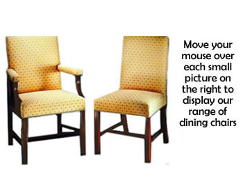 Made to order dining chairs & carver chairs upholstered in the fabric or leather of your choice